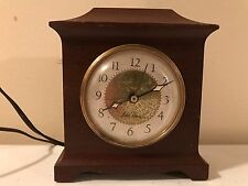 Vintage Seth Thomas SS12-0 Mantle Electric Wooden Alarm Clock for Parts