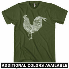 Rooster T-shirt - Men S-4X - Gift Cock a Doodle Doo Farm Animal Hen Chicken Bird
