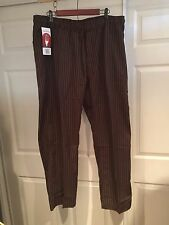 MENS CHEF WORKS CLASSIC FIT BASIC BAGGY CHEF PANTS BROWN BPST