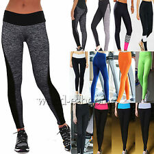 NEW Women Yoga Fitness Skinny Leggings Sports Running Gym Stretch Pants Trousers