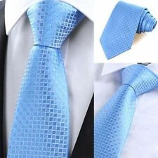 Business Wedding Jacquard Woven Silk Tie Plaids & Checks Men's Necktie