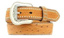 Nocona Western Boys Belt Kids Leather Ostrich N4430202