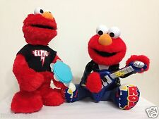 2 Sesame Street Rock and Roll Elmos Electronic Singing 1998 Animated Plush - Toy