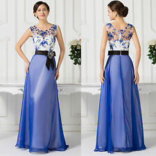 Women Long Sleeveless Evening Formal Party Cocktail Dress Bridesmaid Prom Gown
