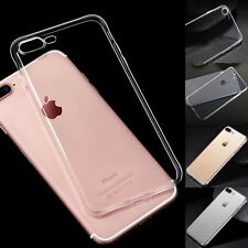 For iPhone 7/7 Plus Clear TPU Skin Cover Back Case Ultra Thin Slim Silicone Soft