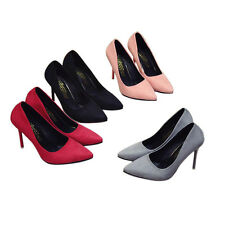 S Fashion New Sexy Women 10CM High Heels Pointed Toe Shallow Mouth Ladies Shoes