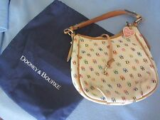 Dooney and Bourke small coated canvas hobo bag w/dust bag