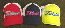 Titleist Stretch Tech Fitted Men's Golf Cap Hat NEW Red Navy Lime Green S/M L/XL