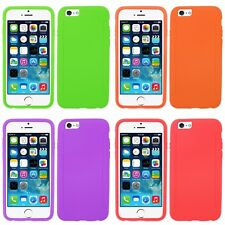 For Apple iPhone 6 (4.7) Silicone Rubber Soft Grip Phone Case