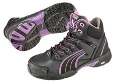 Puma Miss Safety Mid Cut 630607 with Steel Toe Cap in Purple