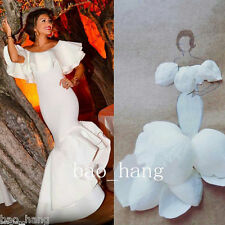 White Off Shoulder Mermaid Evening Prom Dresses Elegant Formal Party Ball Gowns