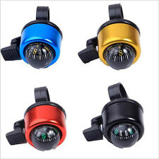 New Bicycle Cycling Ring Handlebar Aluminum Metal Bike Compass Bell Horn 5 Color
