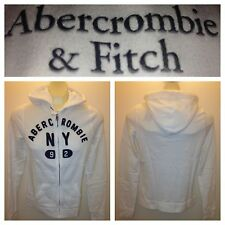 NWT ABERCROMBIE & FITCH WOMENS FLEECE HOODIES JACKET SIZE L A&F white   $68