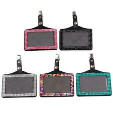 2017 Hot Bling Rhinestone Chest Card Cover Horizontal ID Card Badge Holder New L