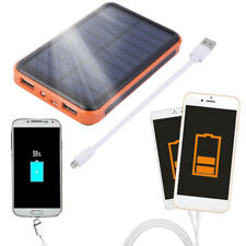 Large Capacity Waterproof Solar Power Bank Dual USB Solar Charger Lot IG