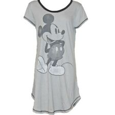 Disney Womens Fashion Sleep Shirt Mickey Mouse Distress Gray