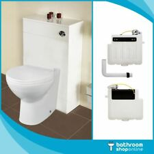 Modern Toilet Pan Back to Wall BTW WC Soft Close Seat Cistern 500mm WC Unit