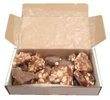 Chocolate Peanut Brittle Gift Box, Personalised Label, Birthday Christmas & More
