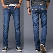 Men Jeans Fashion Brand Pant Male Casual Straight Denim Jeans Men's old processi