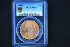 Very nice 1884-S Liberty Double Eagle $20 Gold Coin PCGS MS-62