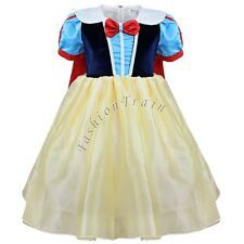Girls Kids Princess Snow White Halloween Xmas Cosplay Costume Fancy Party Dress