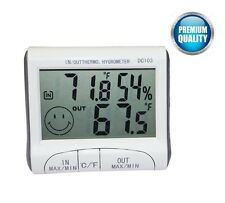 Digital Thermometer Hygrometer Max Min Temperature Humidity lot Indoor Outdoor