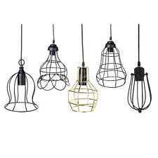 Edison Vintage E27 Pendant Light Chandelier Wired Cage Ceiling Hanging Lampshade