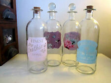 Retro Vintage Bathroom Glass Perfume Bottles Ornament With Glass/Cork Stoppers