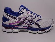 ASICS Women's Gel-Cumulus 16 Running Shoe,White/Black/Hot Pink (T489N-0190)