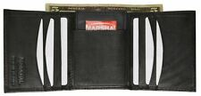 Genuine Soft Leather Trifold Credit Card Wallet W/Removable ID Holder Mens