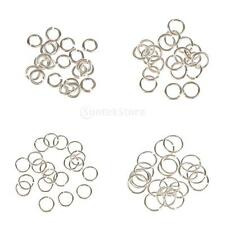 20 WHOLESALE OPEN SPLIT CONNECTORS JUMP RINGS SILVER For JEWELRY MAKING 3-6mm