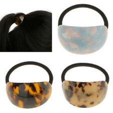 Retro Semicircle Leopard Print Elastic Hair Band Pony Holder Accessory 3 Colors