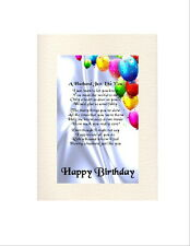 Personalised Birthday Card -   Various Ages -   A Husband Poem