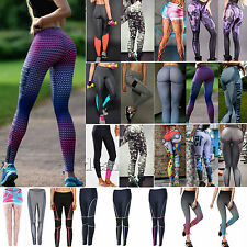 Women Sports Long Pants Slim Stretchy Leggings Casual GYM Fitness Tight Trousers