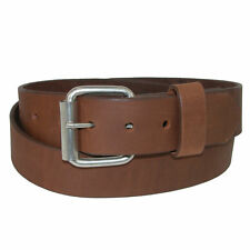 New Boston Leather Men's Chieftain Leather Belt with Removable Roller Buckle