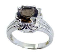 Smoky Quartz 925 Sterling Silver Ring gemstone Brown engaging AU K,M,O,Q