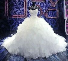 New  White/Ivory Wedding Dresses Gown Custom Size :2/4/6/8/10/12/14/16/18/20+