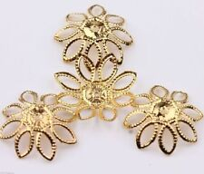 Bead Caps 10mm 12mm Filigree Flower Spacer Findings Silver/Gold/Bronze Plated