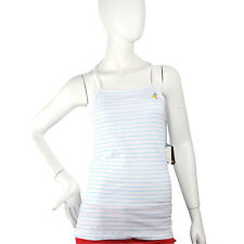 Julius & Friends Paul Frank $47 White Blue Ladies Striped Clancy Tank Top NWT
