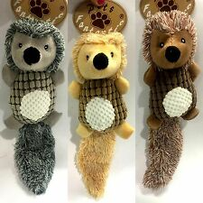 New Pet Dog Animal Toy Hedgehog w Long Tail  Toys Chew Toys Squeaky Plush Toys