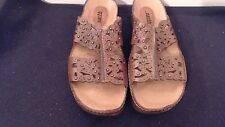 KALSO EARTH SLIDE ON SANDALS WOMENS SIZE 8 ALL LEATHER