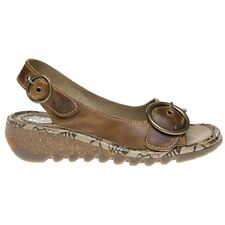 Fly London TRAM723FLY Wedge Camel Womens Sandals