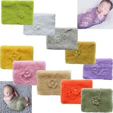 Newborn Baby Soft Mohair Wrap Swaddle Cheesecloth Headband Set Photography Prop