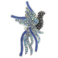 Unisex Novelty Colorful Crystal Peacock Bird Brooch Pins Jewelry Gifts
