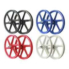 "OLD SCHOOL BMX 6 SPOKE 20"" SKYWAY FREE WHEEL BY SKYWAY VARIOUS COLOURS"