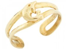 10k / 14k Solid Yellow Gold Dolphin Toe Ring