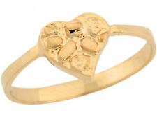 10k / 14k Real Yellow Gold Sweet Heart Nugget Ladies Ring