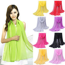 ALL NEW Fashion Women Long Soft Wrap Lady Shawl Chiffon Soft Silk Scarf Scarves