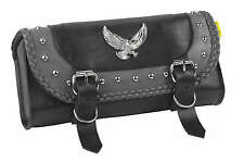 """Willie & Max Gray Thunder Studded Tool Pouch Grey, 12"""" W x 5"""" H 2-1/2"""" D Grey"""