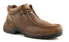 Roper Mens Comfort Lace-Up Brown Vintage Nubuck Leather Paddock Ankle Boots